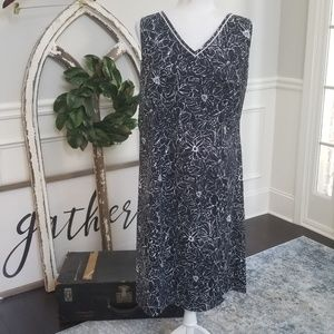 Navy and White Dress Size 16